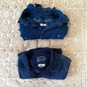 Madewell bundle two chambray long sleeve shirts